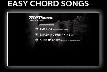RiffPower Easy Guitar Chord Songs