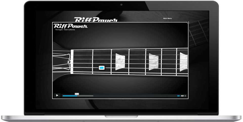 RiffPower Guitar Learning System Computer